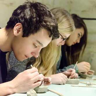 Museum Beelden aan Zee secondary education workshop plaster